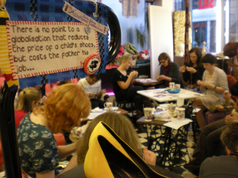 a stitch-in at Paper Dress (vintage) Boutique, Shoreditch